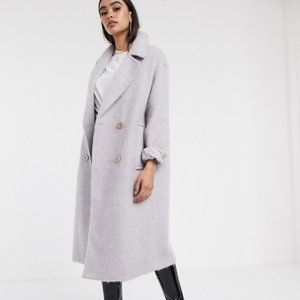 ASOS | Design Statement Lilac Coat with Buttons 8